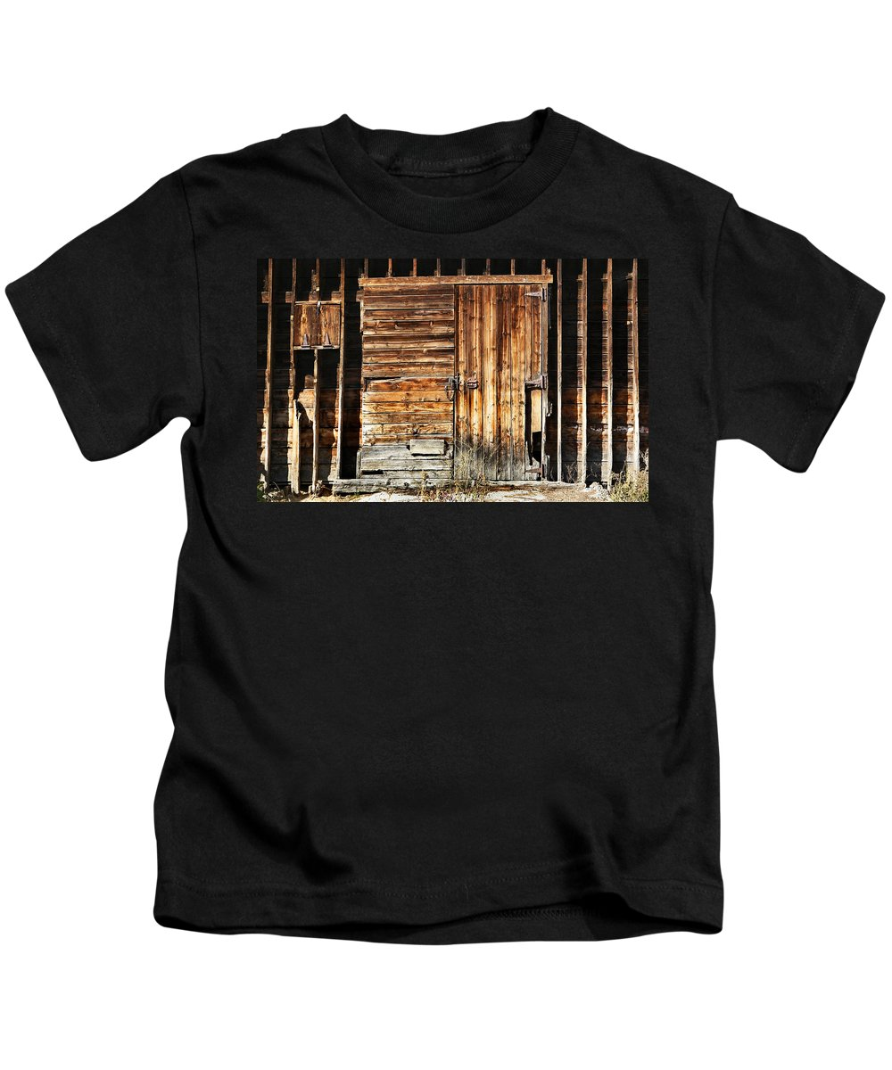 Dream Kids T-Shirt featuring the photograph Wooden Slats Barn by Marilyn Hunt