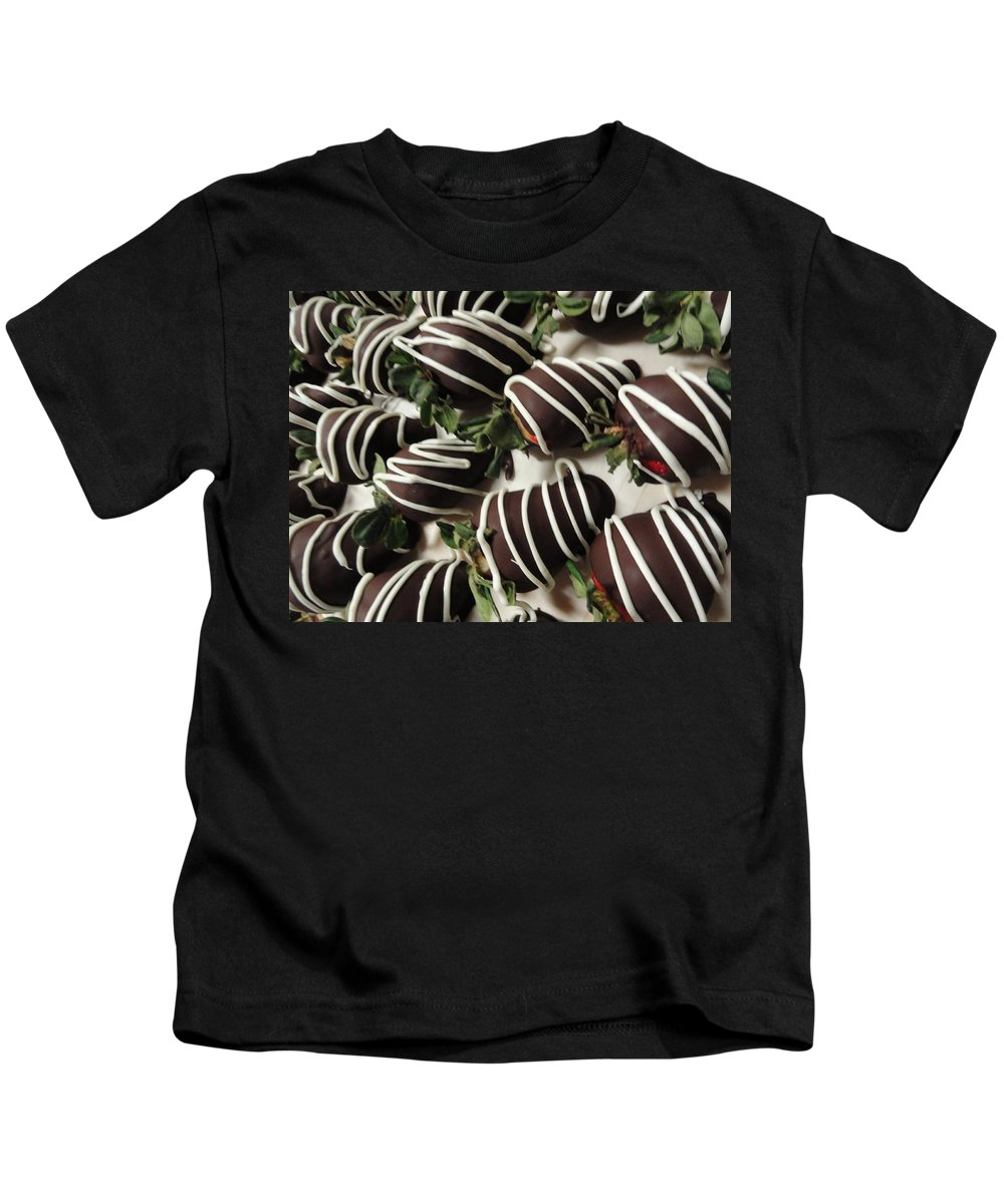 Photograph Kids T-Shirt featuring the photograph Wrapped In Chocolate by Shannon Grissom