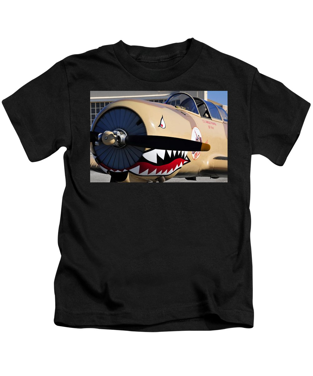 Fine Art Photography Kids T-Shirt featuring the photograph Yak Attack by David Lee Thompson