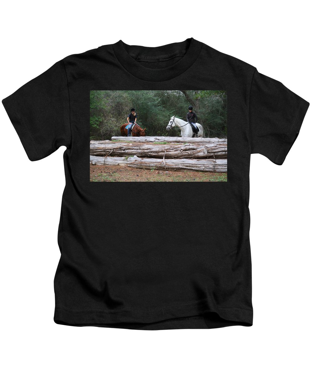 Roena King Kids T-Shirt featuring the photograph Yeah That Is A Big One by Roena King