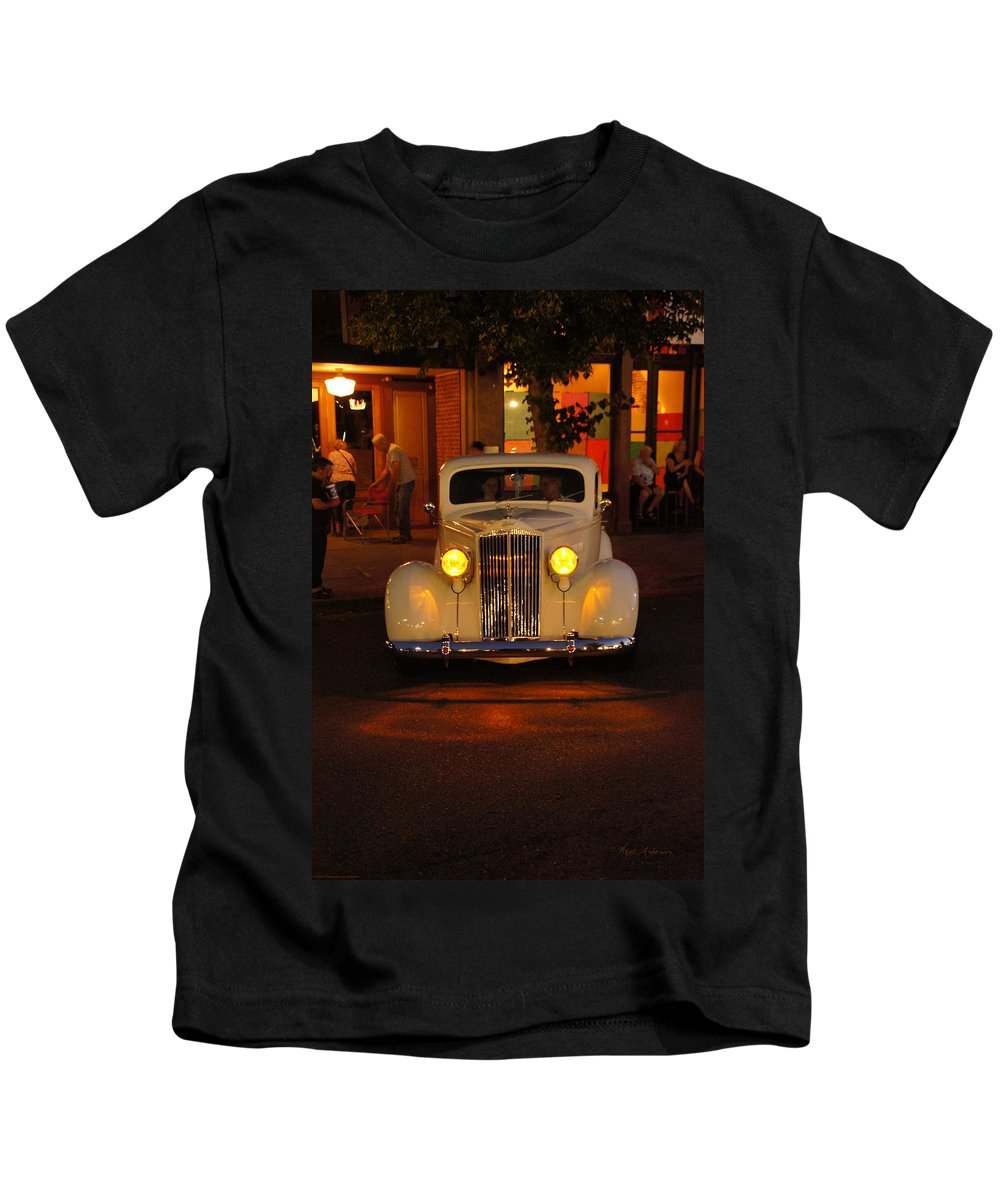 Yellow Kids T-Shirt featuring the photograph Yellow Lights On by Mick Anderson