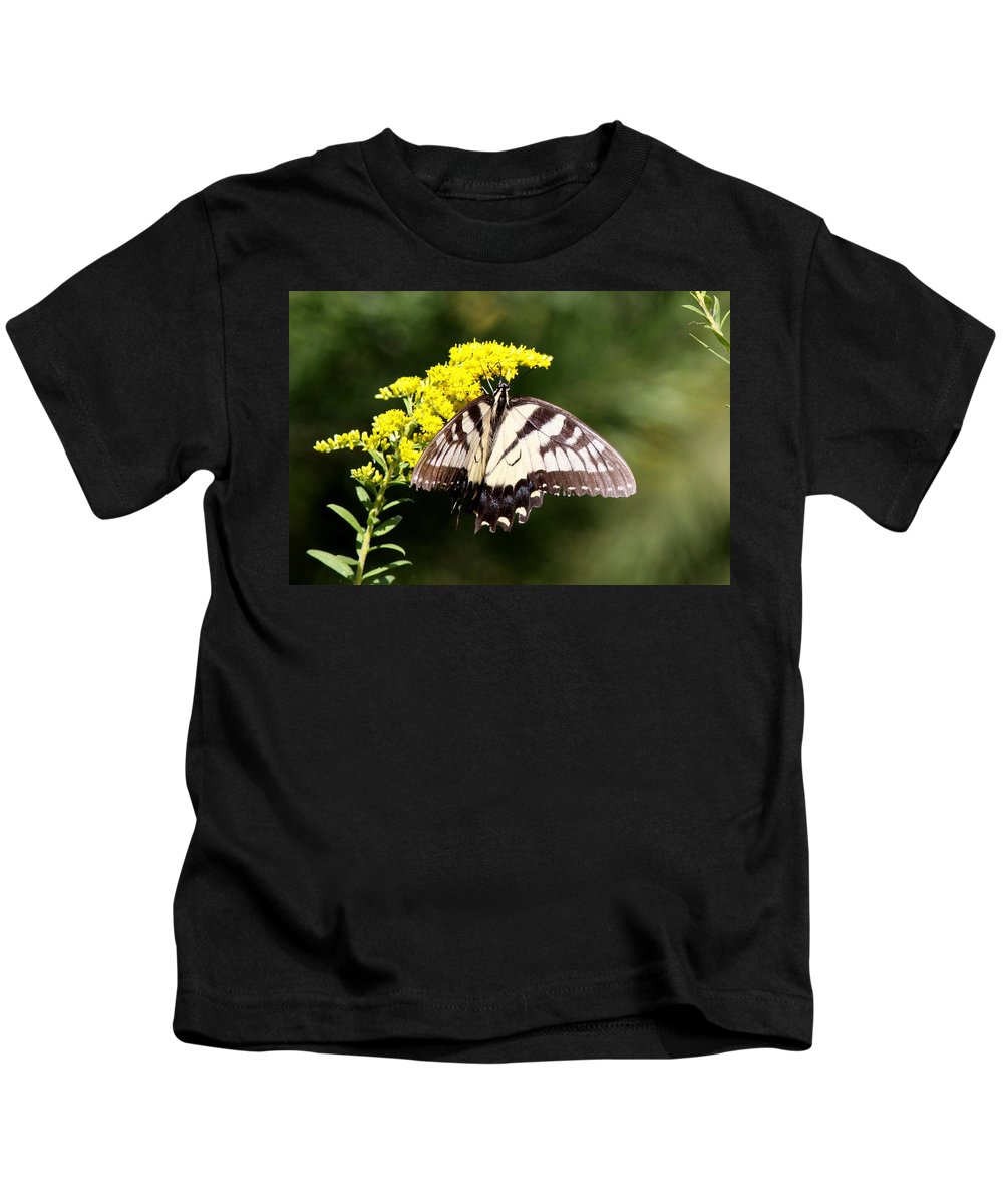 Swallowtail Butterfly Kids T-Shirt featuring the photograph You Keep Me Hanging On by Travis Truelove