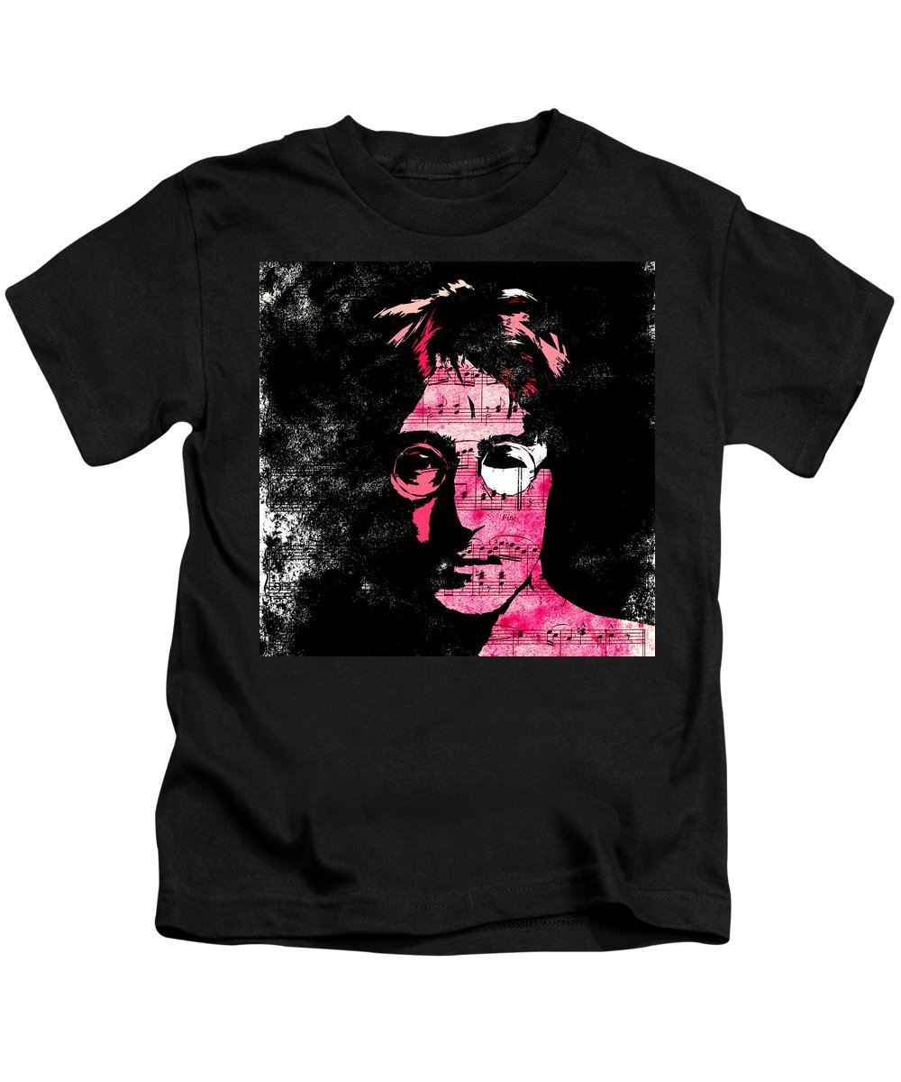 John Lennon Dreamer Not The Only One Beatle Beatles Song Songwriter Dream Kids T-Shirt featuring the digital art You Say I Am A Dreamer by Steve K