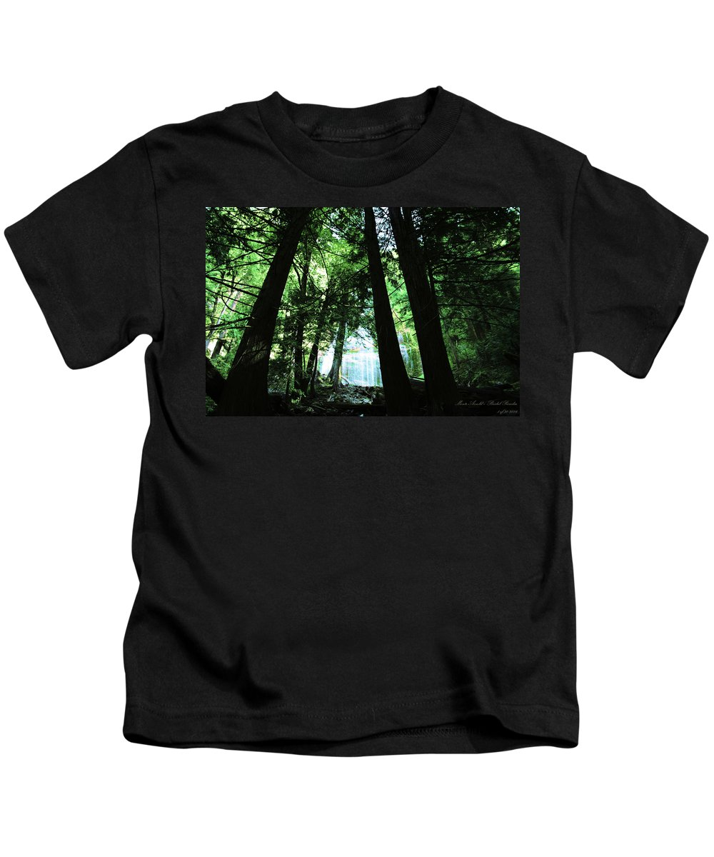 Falls Kids T-Shirt featuring the photograph Bridal Falls by Monte Arnold