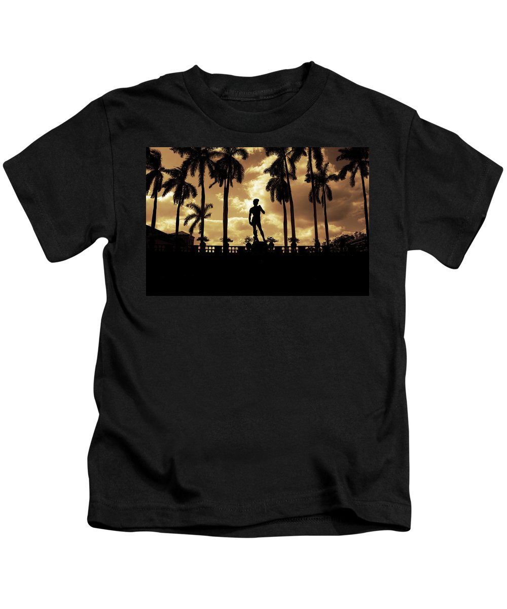 Michelangelo Kids T-Shirt featuring the photograph Replica Of The Michelangelo Statue At Ringling Museum Sarasota Florida by Mal Bray