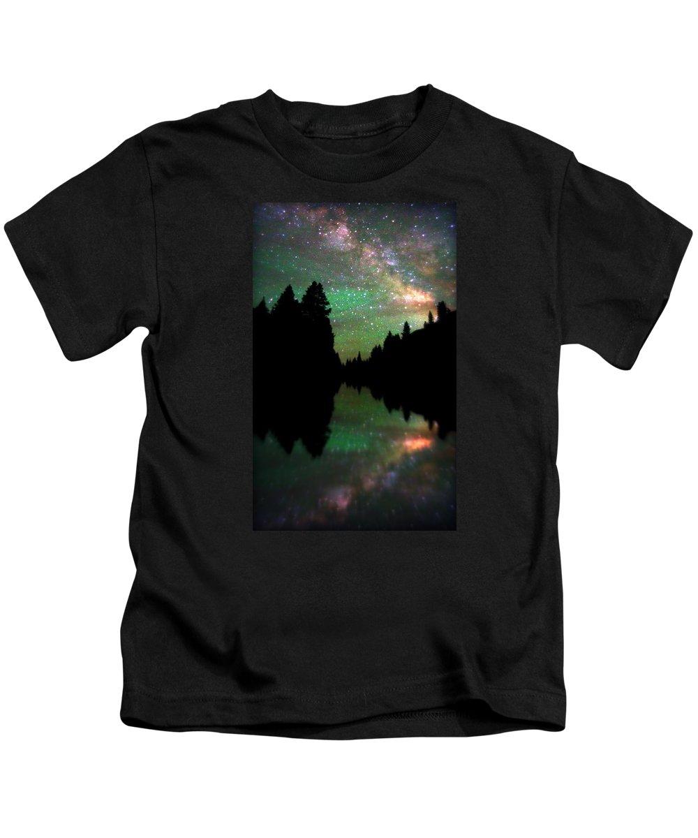 Crested Butte Kids T-Shirt featuring the photograph Starry Dreamscape by Matt Helm