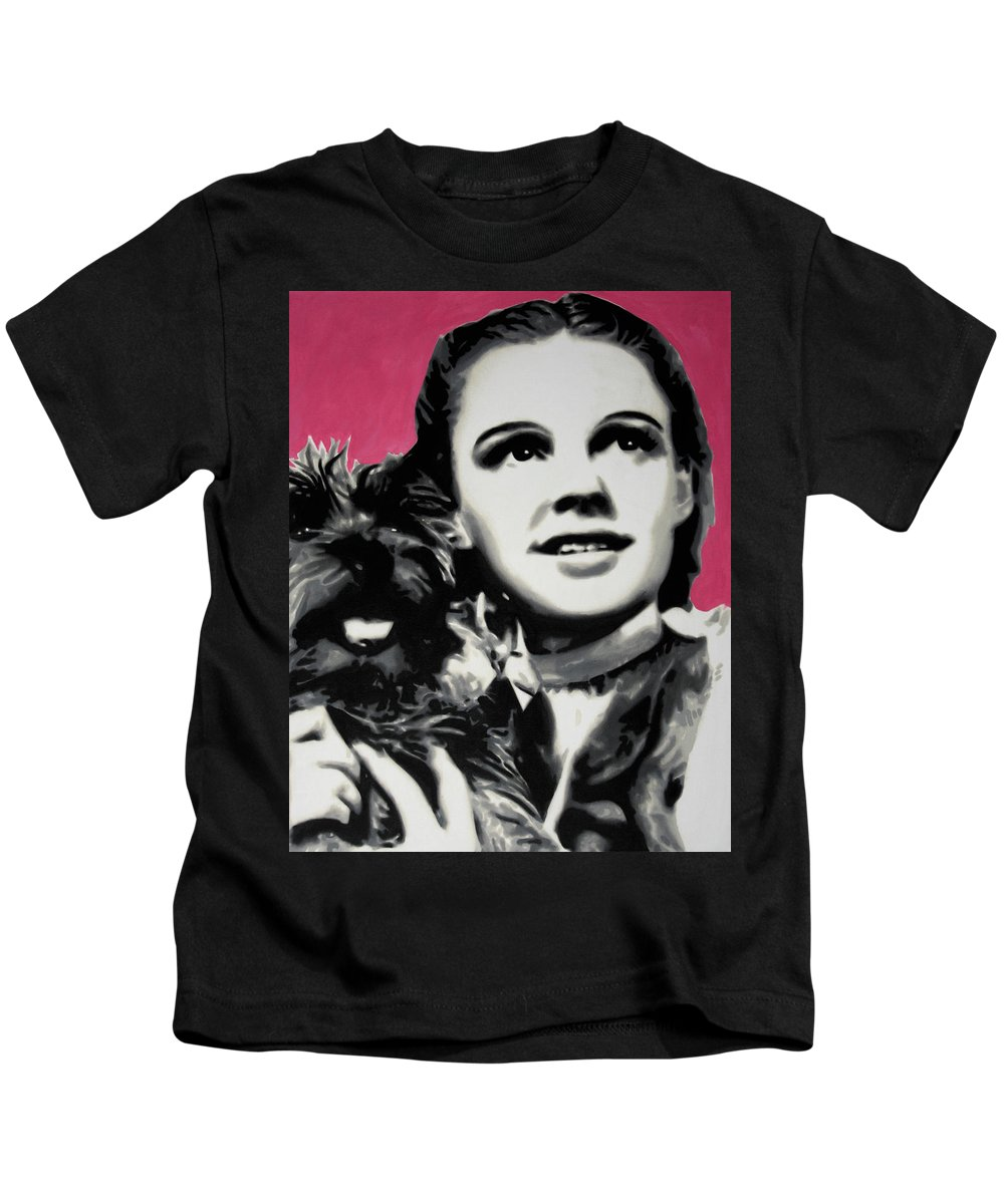 Ludzska. Dorothy Kids T-Shirt featuring the painting - Dorothy - by Luis Ludzska
