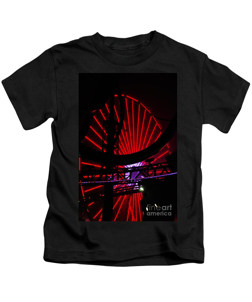 Clay Kids T-Shirt featuring the photograph A Night At Santa Monica Pier by Clayton Bruster