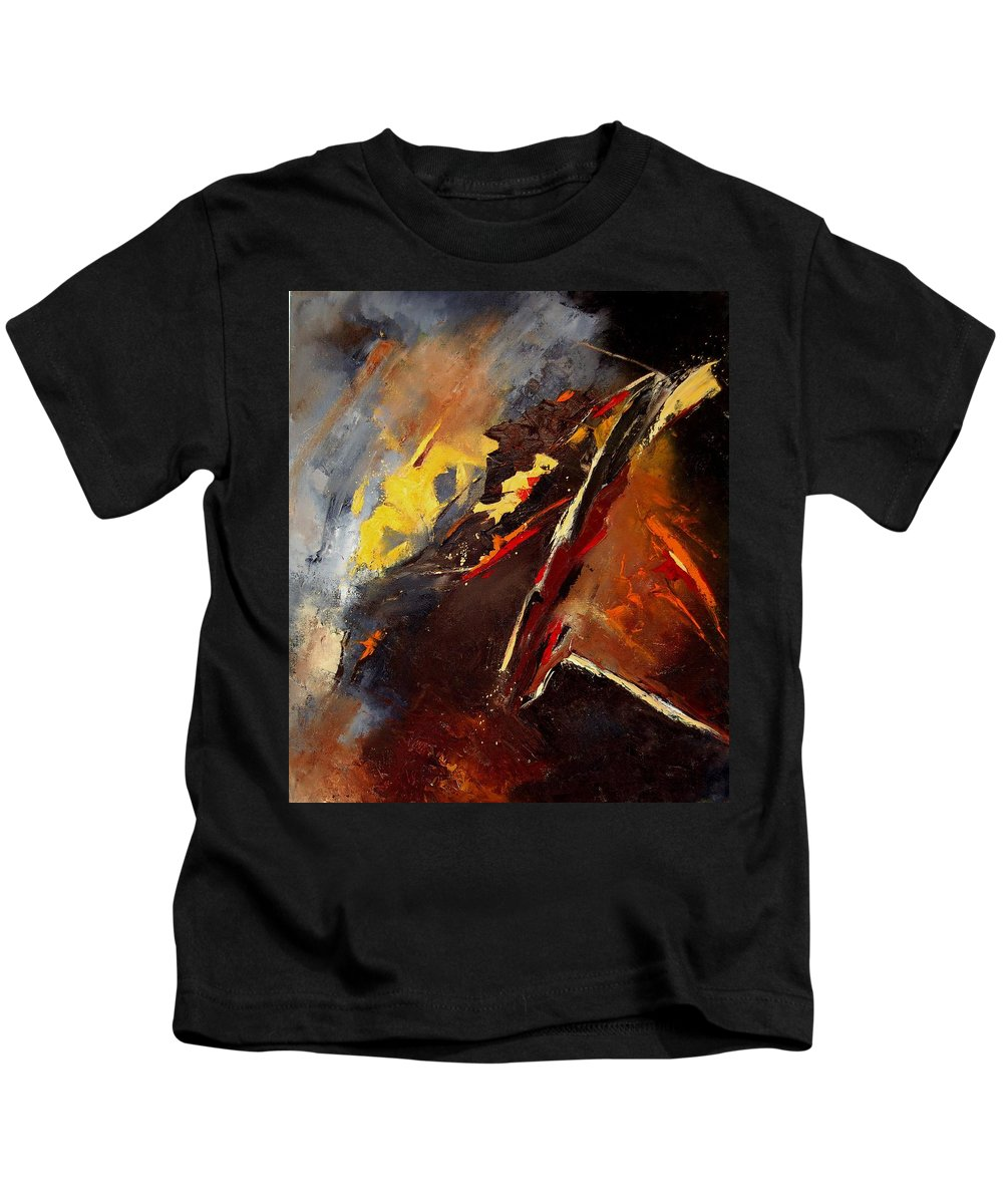 Abstract Kids T-Shirt featuring the painting Abstract 12 by Pol Ledent
