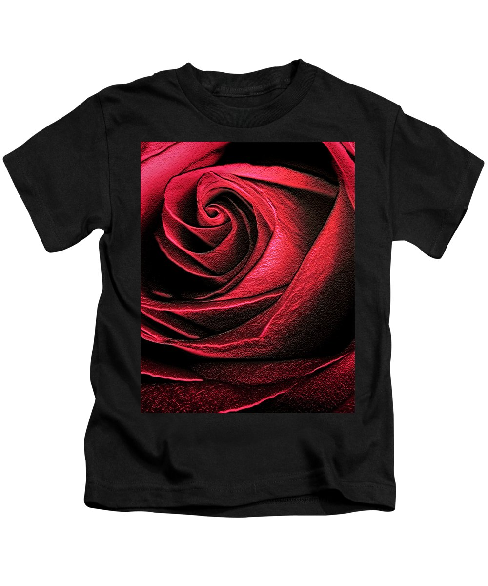 Abstract Kids T-Shirt featuring the photograph Abstract Rose by Marilyn Hunt