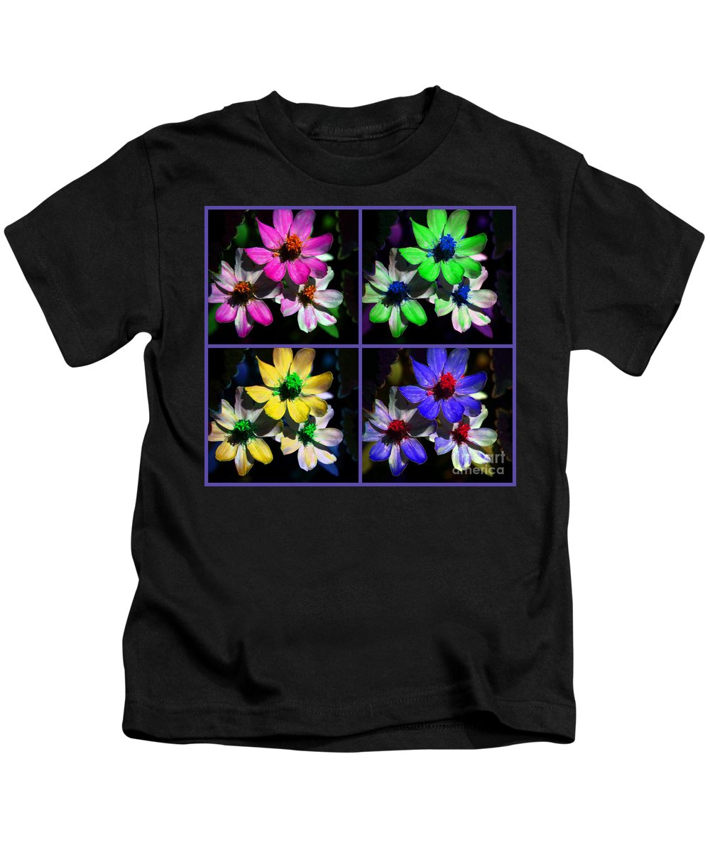Flower Kids T-Shirt featuring the photograph All For One by Susanne Van Hulst