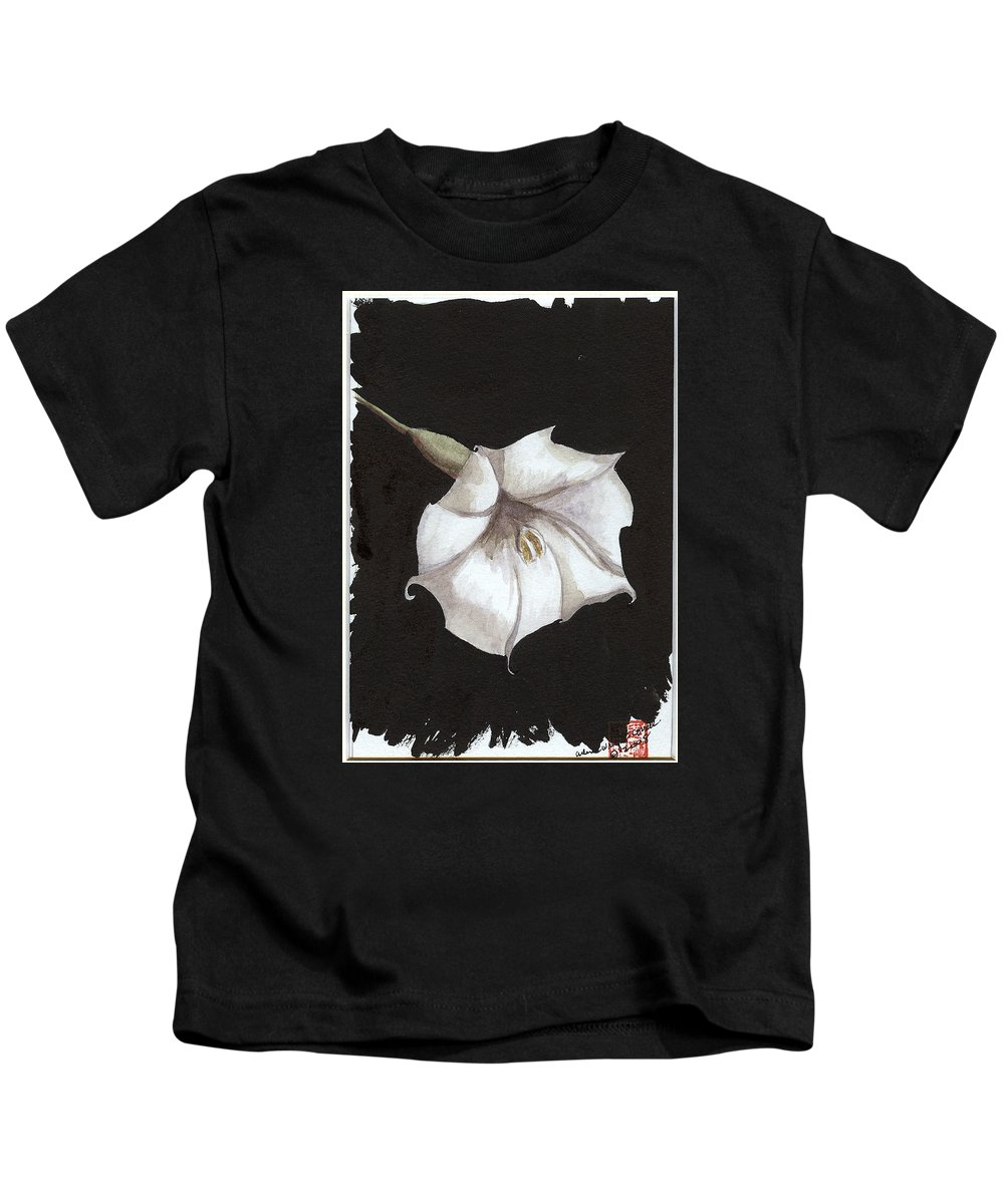 Moonflower Kids T-Shirt featuring the painting Arlene by Arlene Wright-Correll