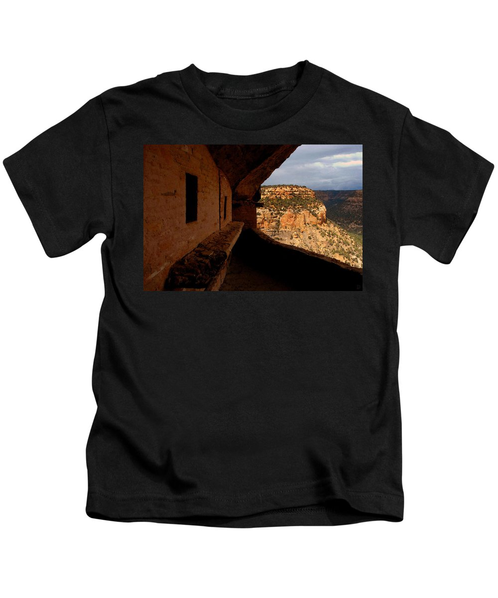 Art Kids T-Shirt featuring the painting Balcony House by David Lee Thompson