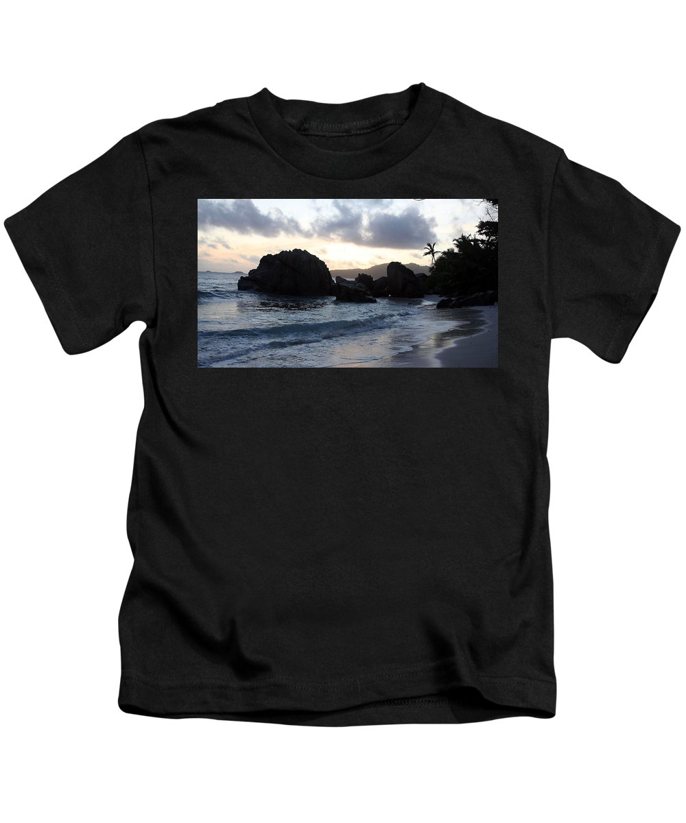 Beach Kids T-Shirt featuring the digital art Beach by Dorothy Binder