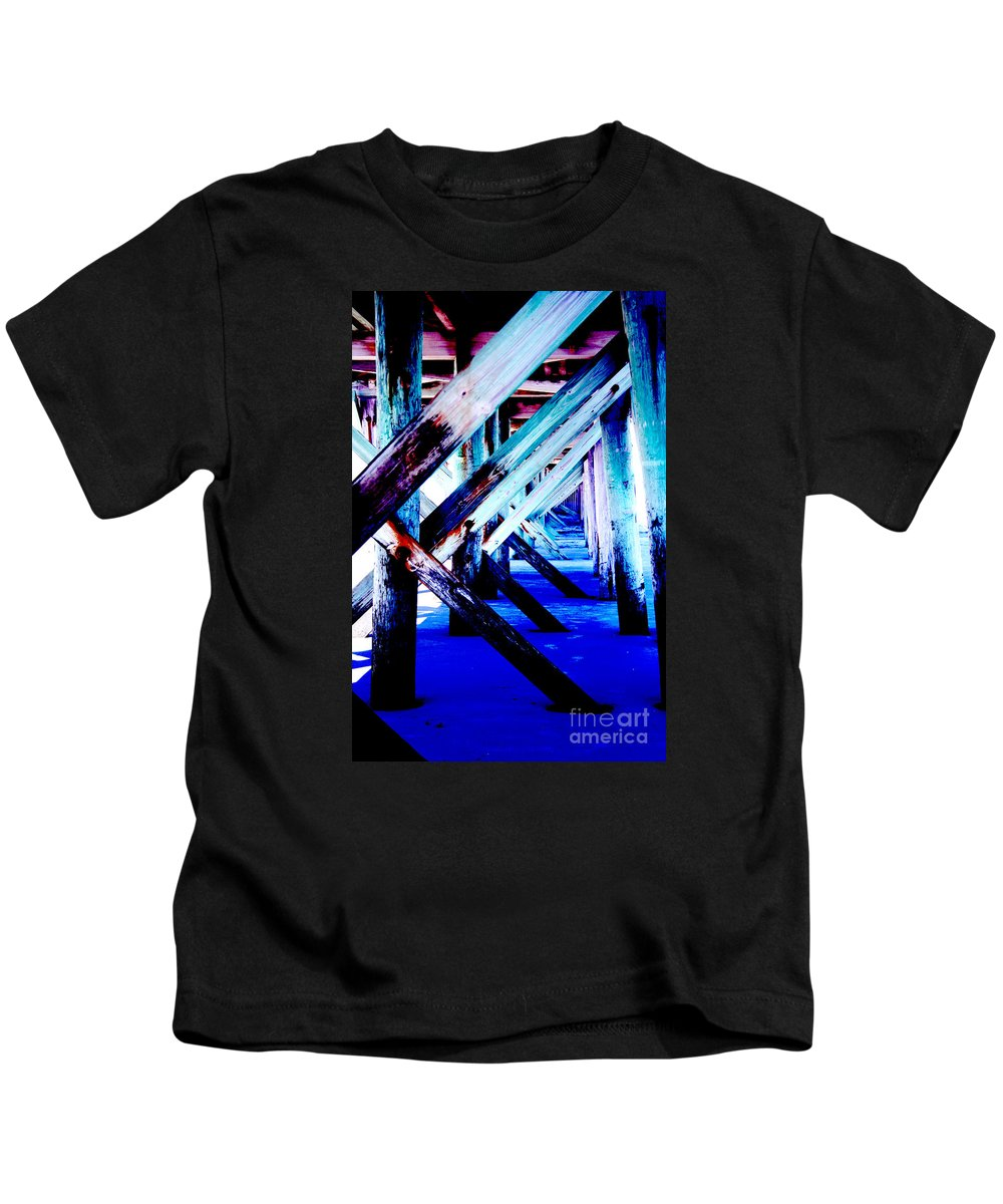Dock Kids T-Shirt featuring the photograph Beneath The Docks by Jamie Lynn