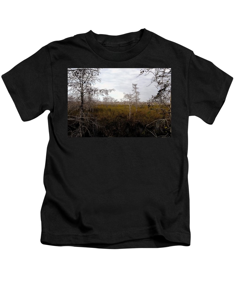 Big Cypress National Preserve Kids T-Shirt featuring the painting Big Cypress by David Lee Thompson