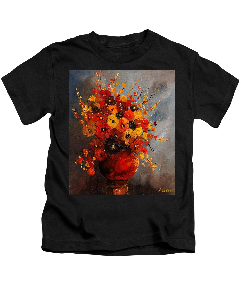 Flowers Kids T-Shirt featuring the painting Bunch 0708 by Pol Ledent