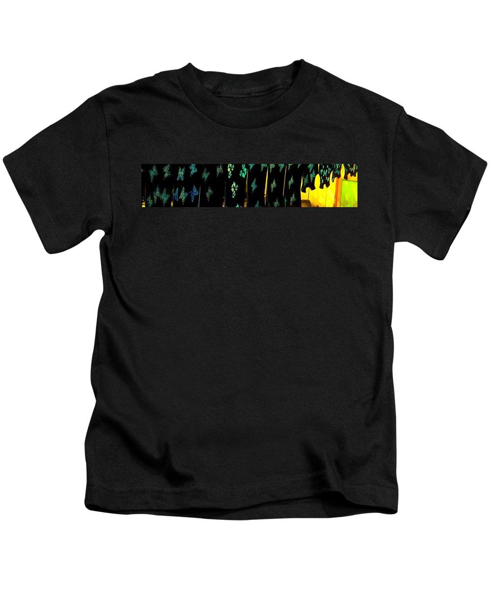 Batiks Kids T-Shirt featuring the photograph Butterflies Drying by Ian MacDonald