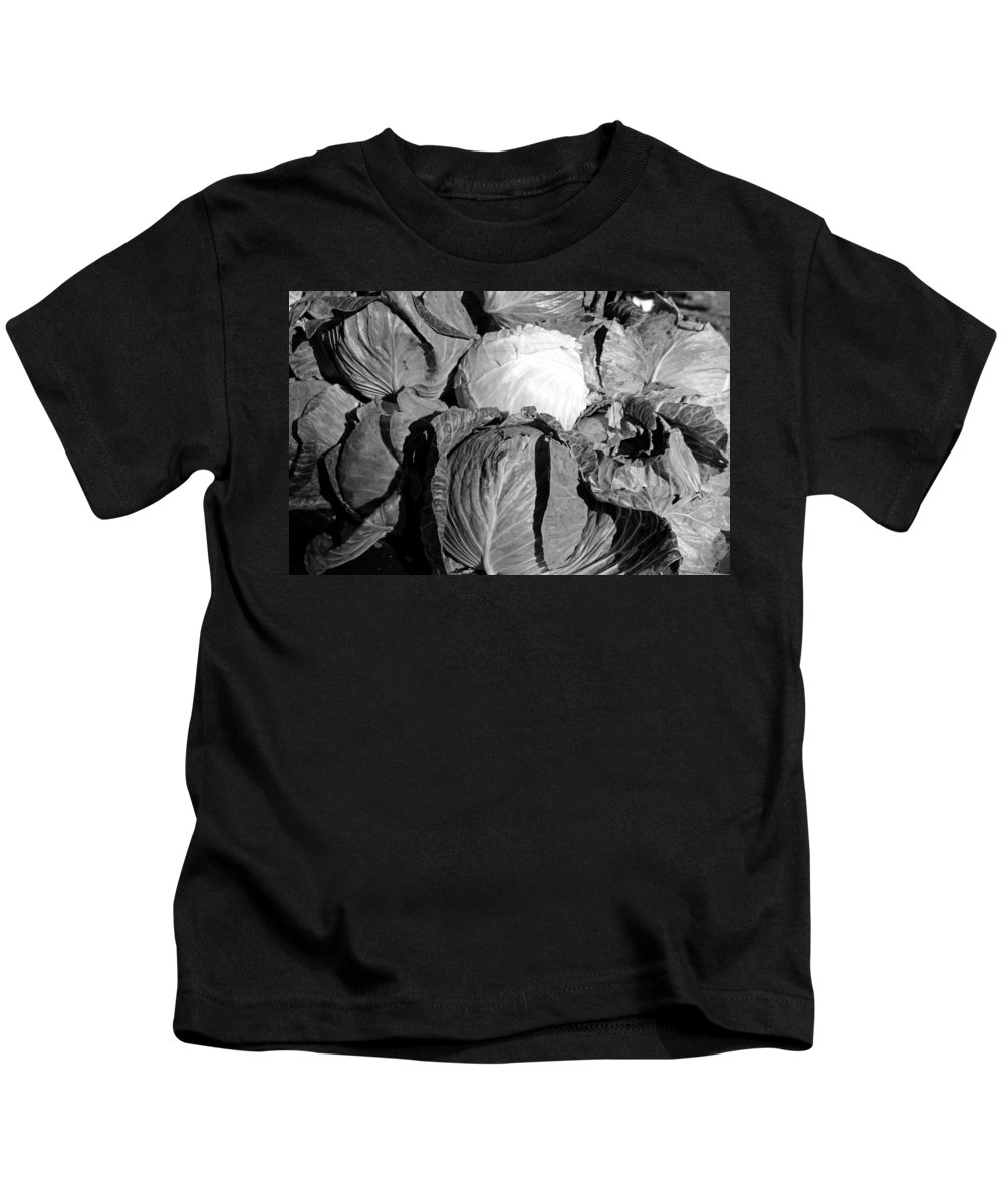 Cabbage Kids T-Shirt featuring the photograph Cabbage by Michiale Schneider