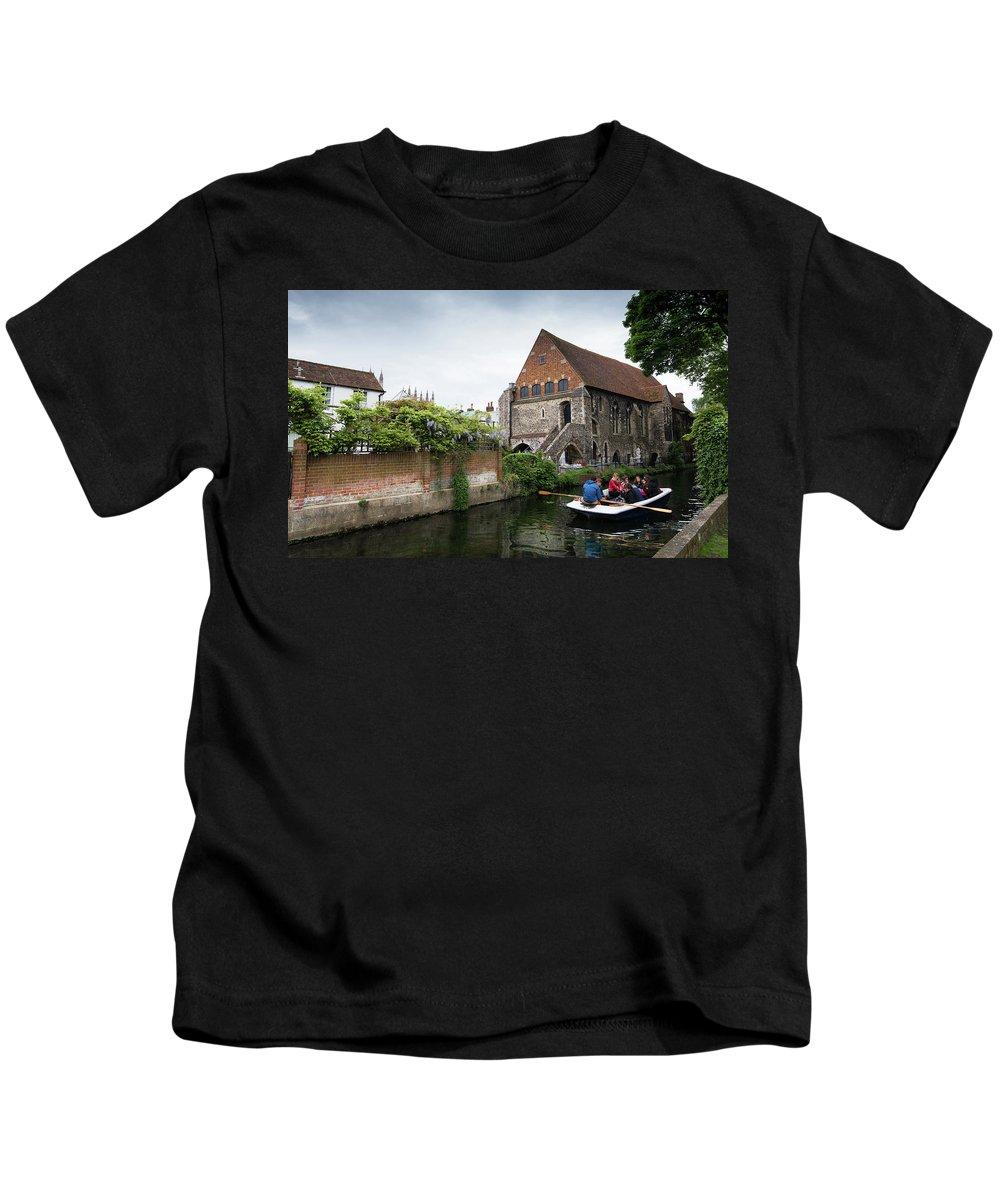 Canterbury Kids T-Shirt featuring the photograph Canterbury City, Kent Uk by Michalakis Ppalis