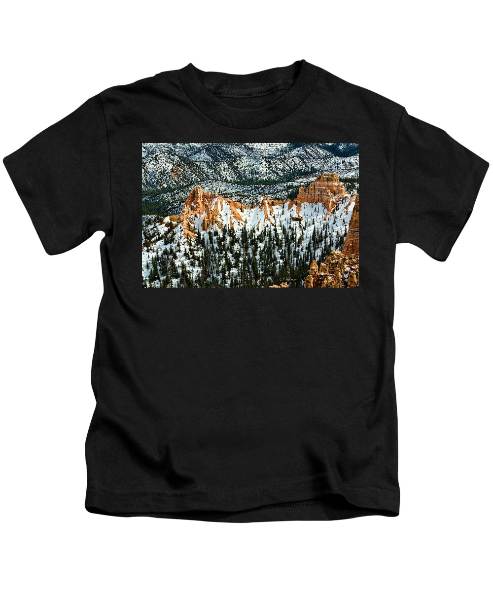 Canyon Kids T-Shirt featuring the photograph Canyon View by Christopher Holmes