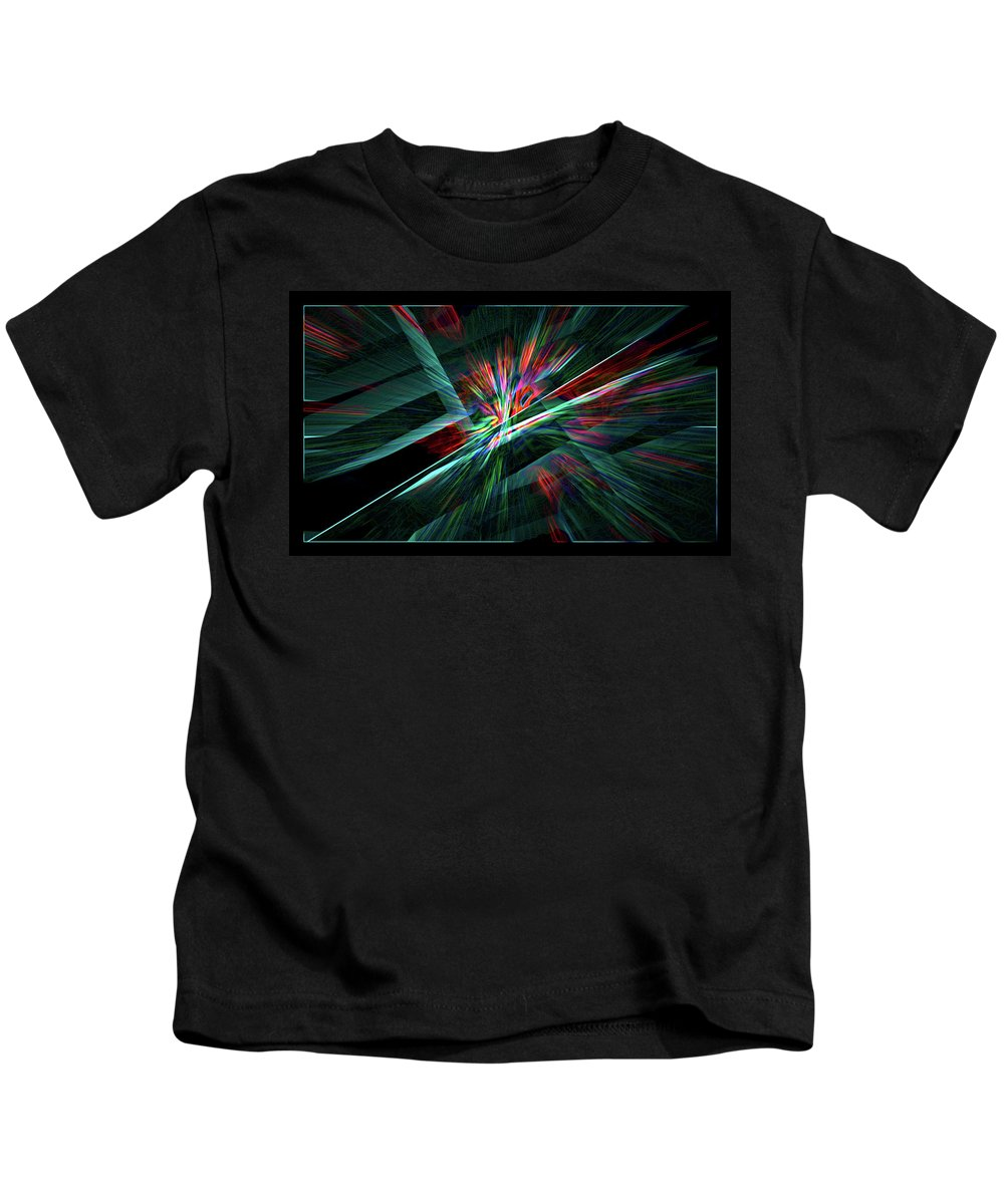 Abstract Kids T-Shirt featuring the digital art Color Burst by Chris Brannen