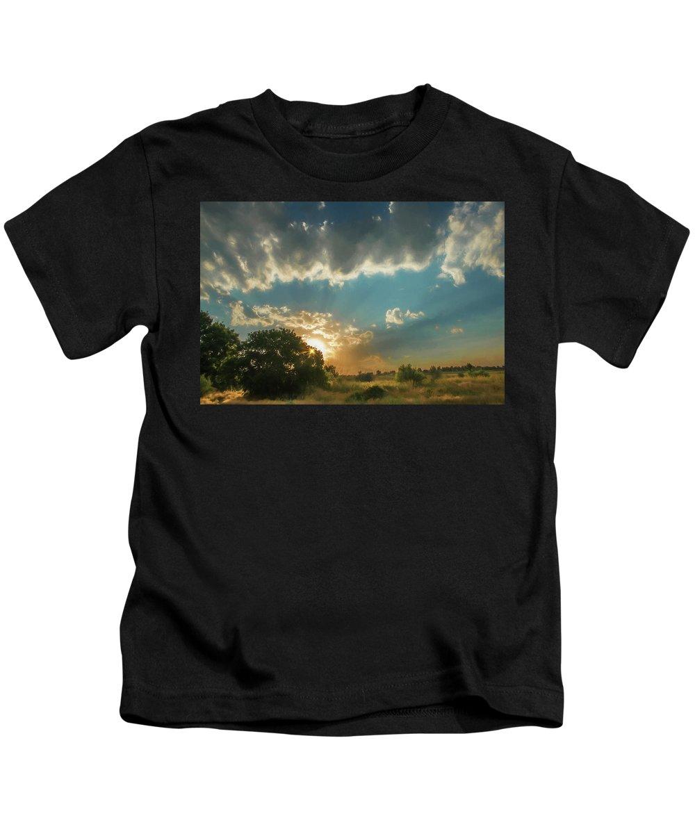 Sunset Kids T-Shirt featuring the photograph Colorado Sunset by Janice Bennett