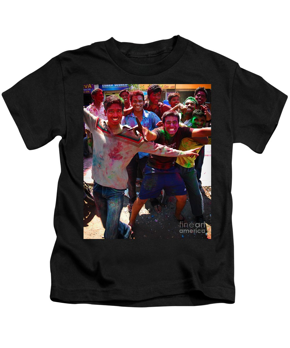 Boys Kids T-Shirt featuring the photograph Colors by Charuhas Images