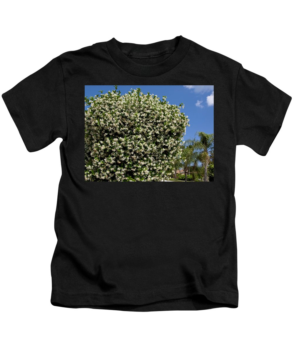 Flower Kids T-Shirt featuring the photograph Confederate Jasmine by Allan Hughes