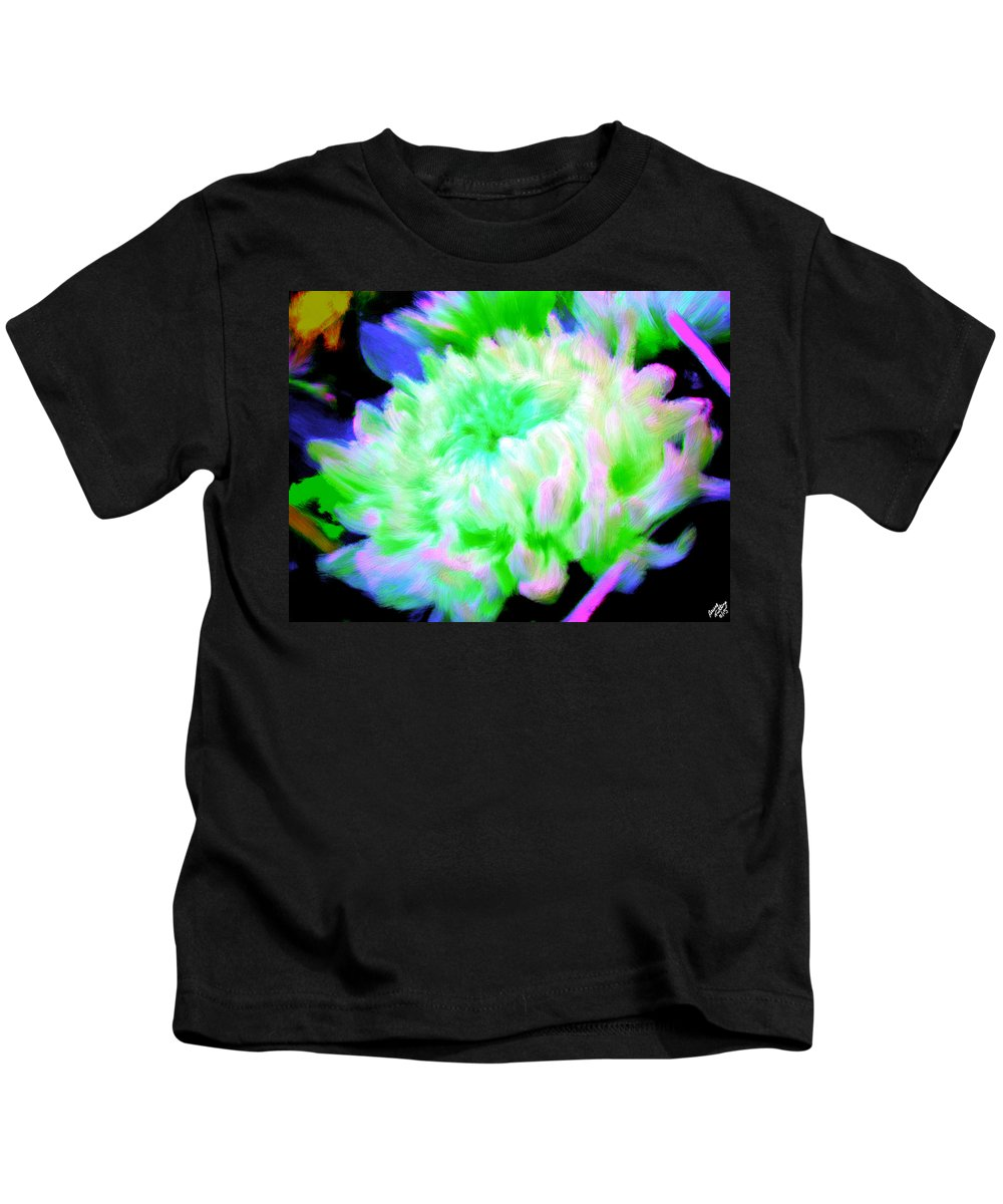 Bruce Kids T-Shirt featuring the painting Cool Colorful Chrysanthemum by Bruce Nutting