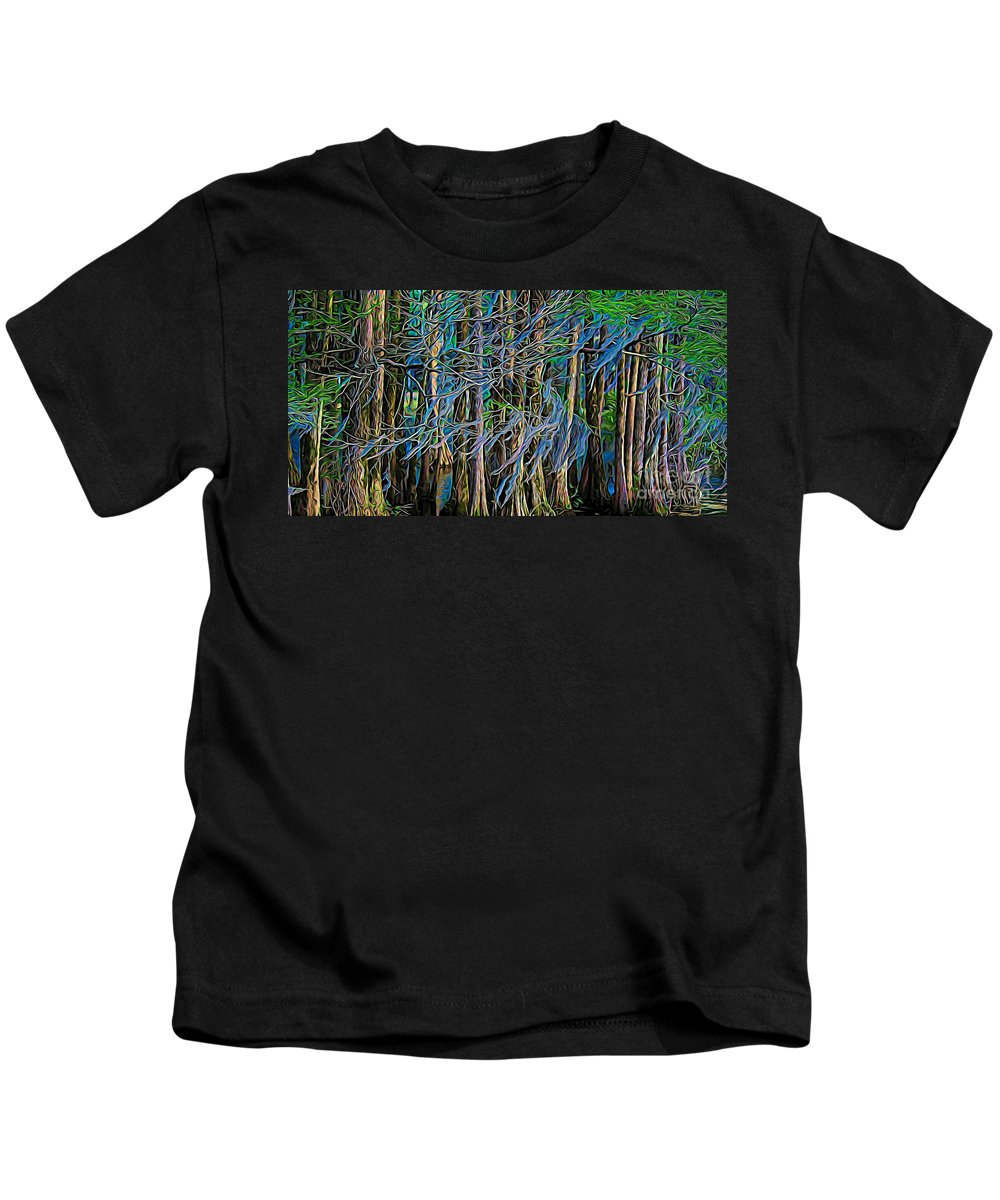 Trees Kids T-Shirt featuring the photograph Dancing Trees by Paulette Thomas