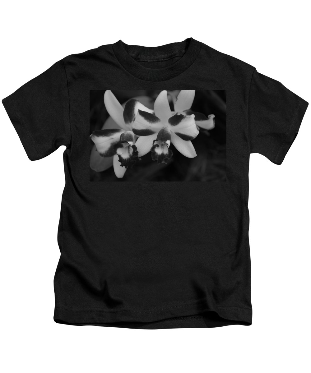 Macro Kids T-Shirt featuring the photograph Double Orchid by Rob Hans