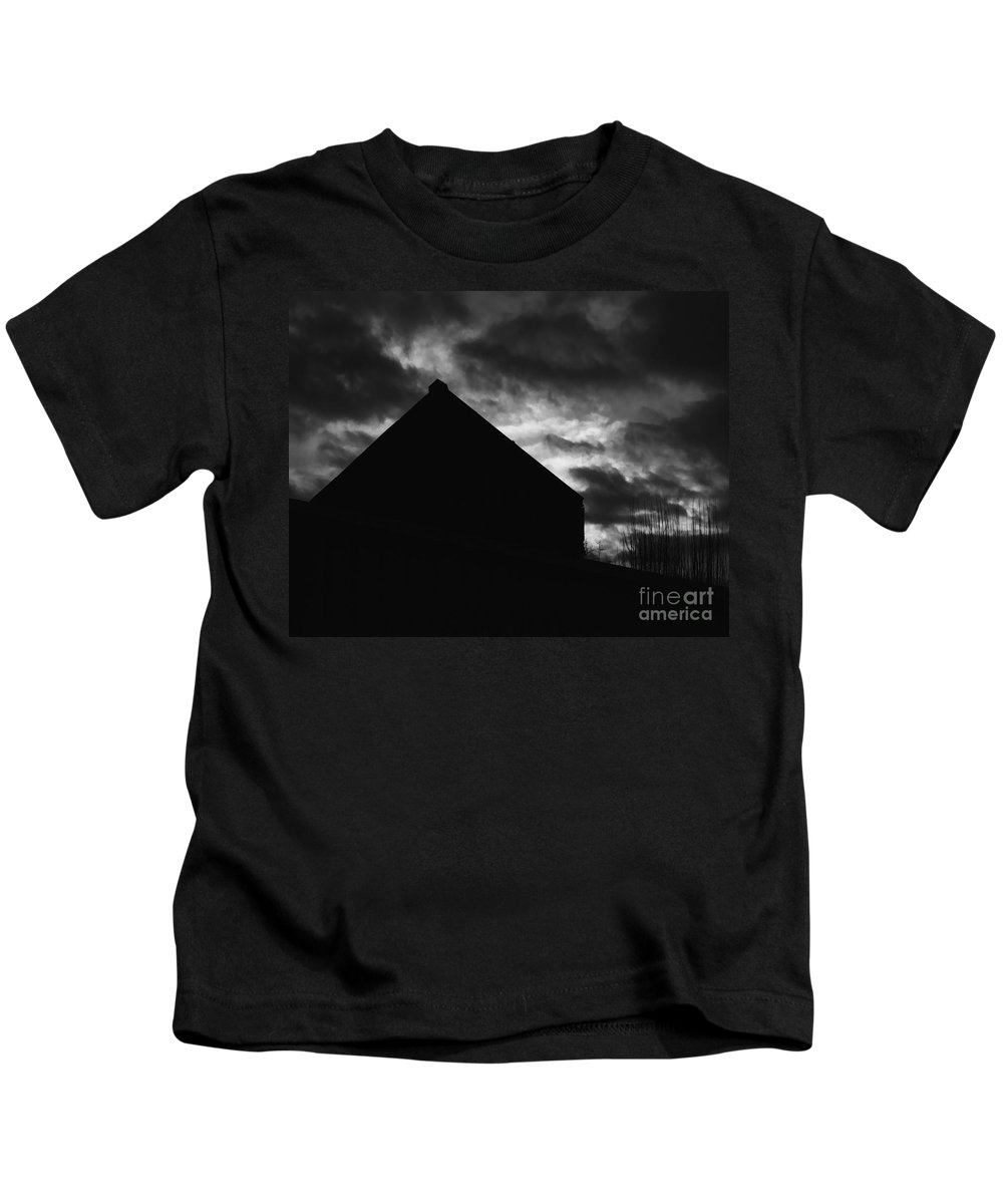 Black And White Kids T-Shirt featuring the photograph Early Morning by Peter Piatt