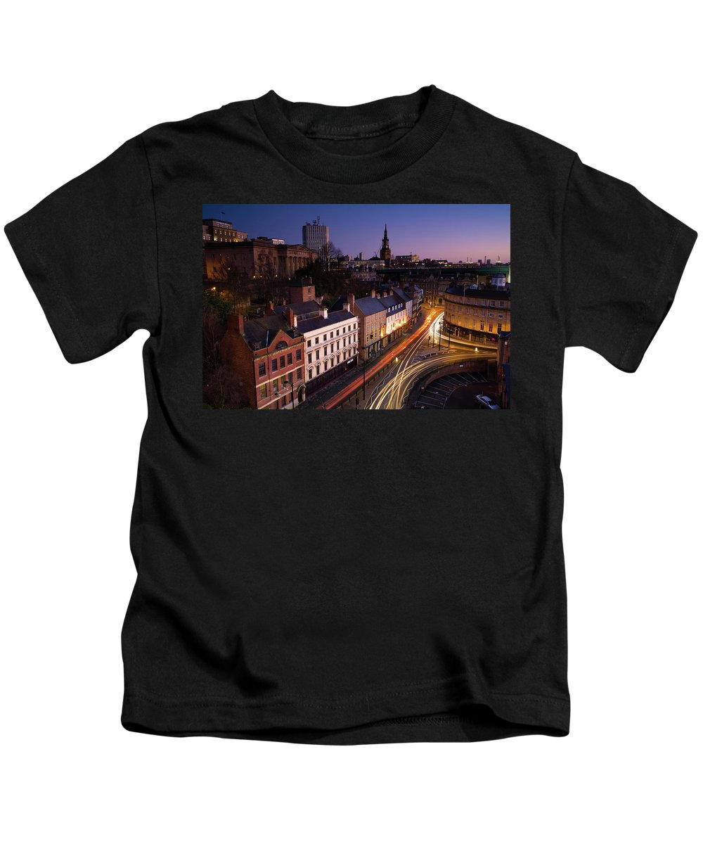 Kids T-Shirt featuring the photograph England, Tyne And Wear, Newcastle Upon Tyne by Jason Friend