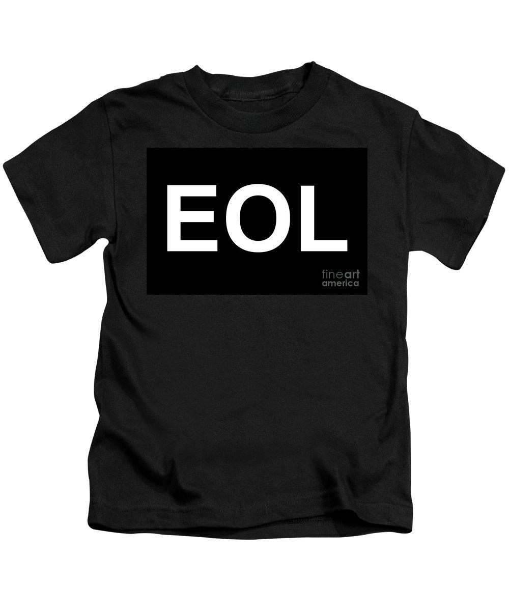Eol Kids T-Shirt featuring the digital art Eol End Of Life by Henrik Lehnerer