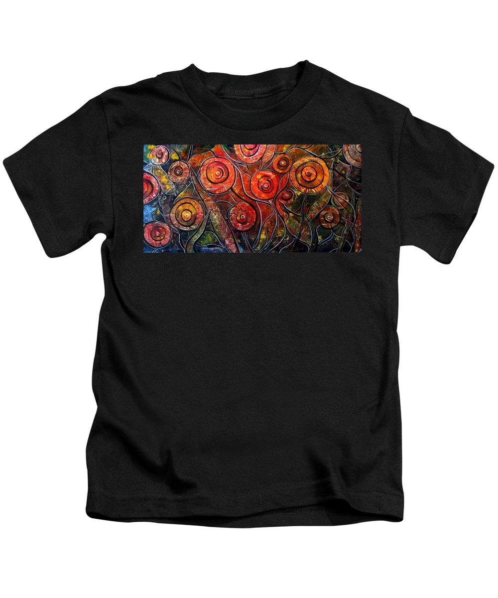 Exotic Kids T-Shirt featuring the painting Exotic Foliage by Luiza Vizoli