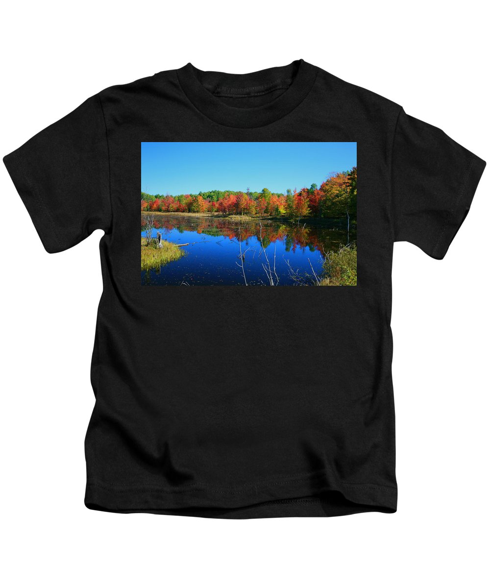Fall Kids T-Shirt featuring the photograph Fall Fire Works by Robert Pearson