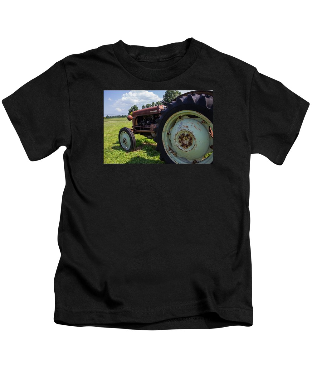 Tractor Kids T-Shirt featuring the photograph Ferguson Tractor by Brian Manfra