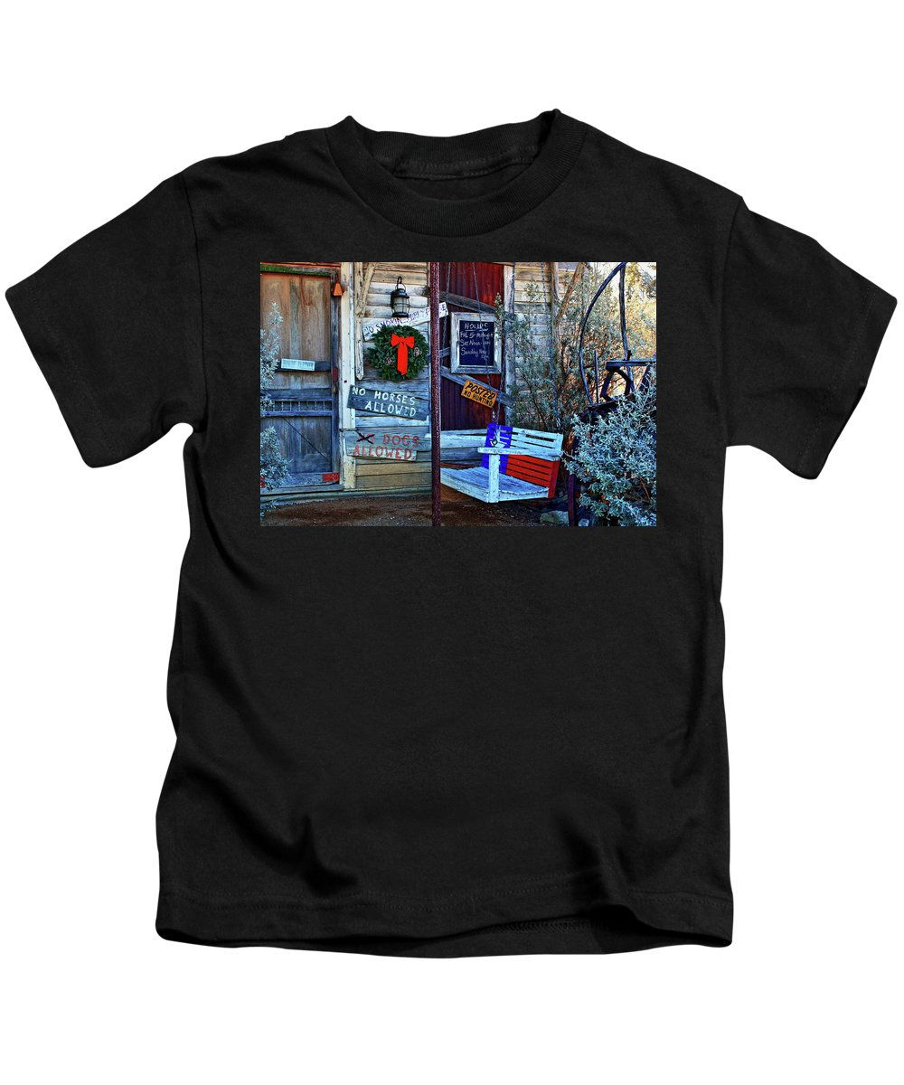 Saloon Kids T-Shirt featuring the photograph Front Porch by Daniel Koglin
