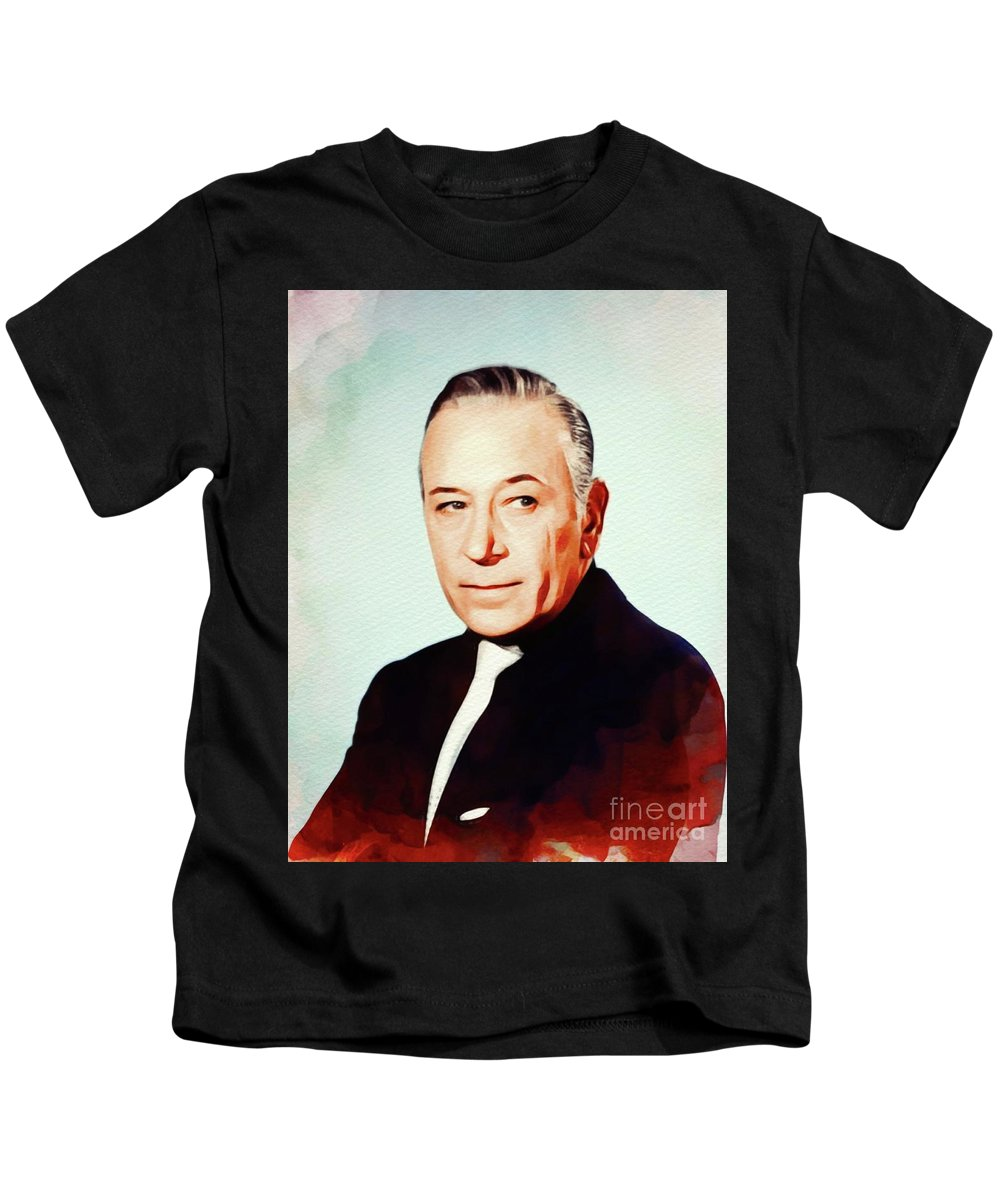George Kids T-Shirt featuring the painting George Raft, Vintage Movie Star by John Springfield