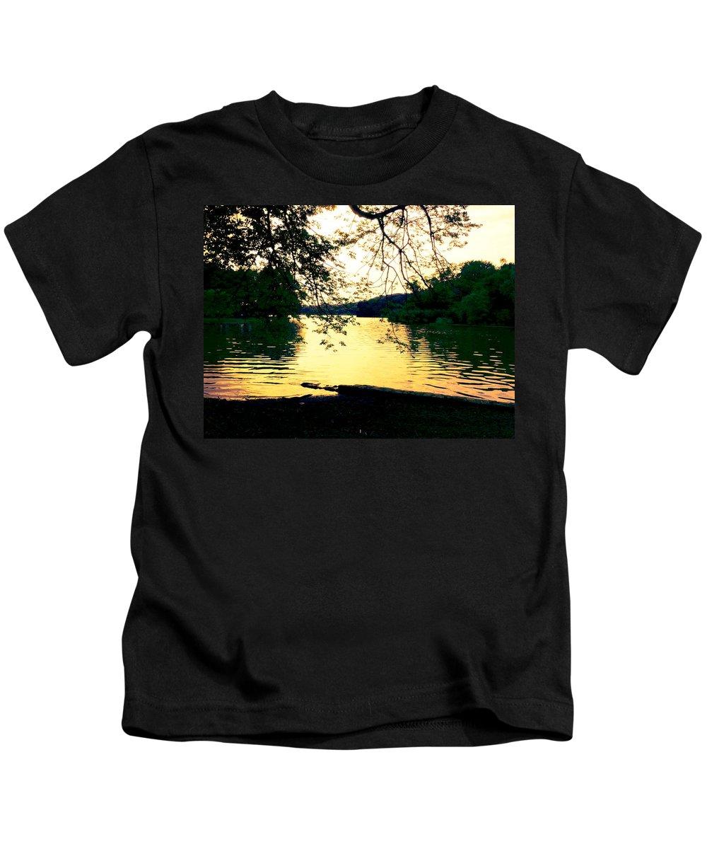 Landscape Kids T-Shirt featuring the photograph Golden Days by Kendall Eutemey
