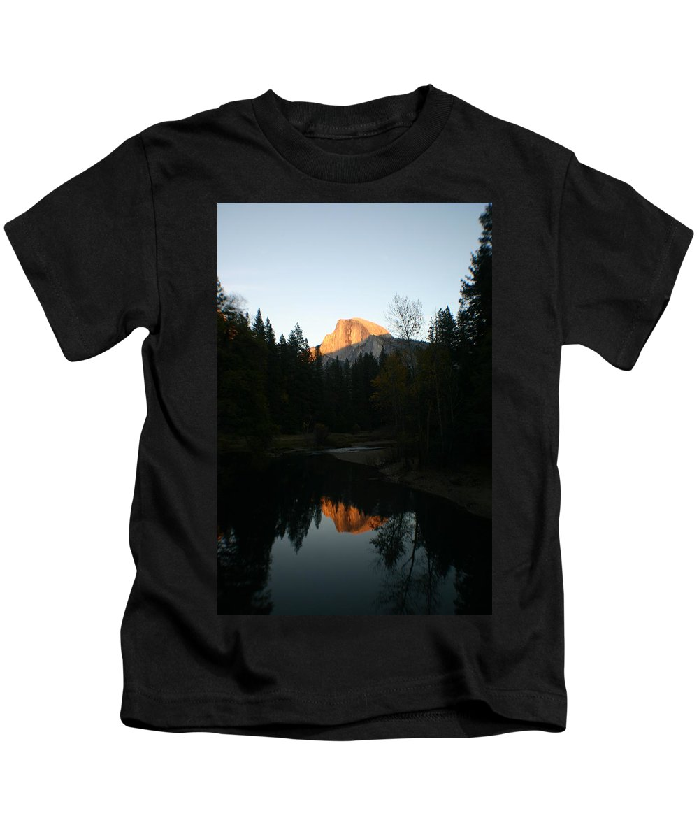 Half Dome Kids T-Shirt featuring the photograph Half Dome Sunset by Travis Day
