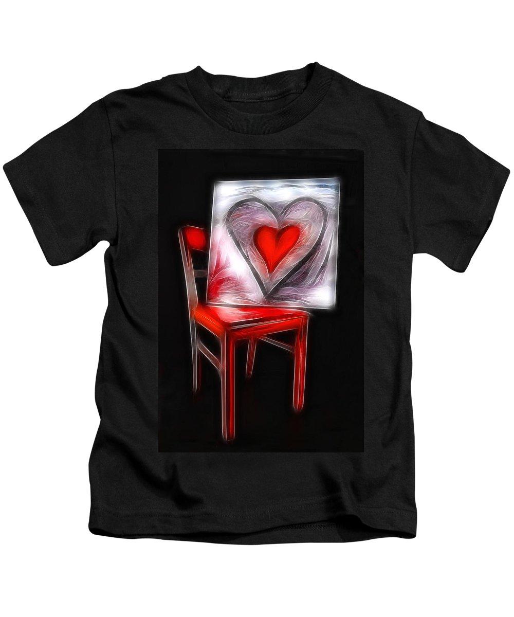 Heart Kids T-Shirt featuring the photograph Heart Int Heart by Manfred Lutzius