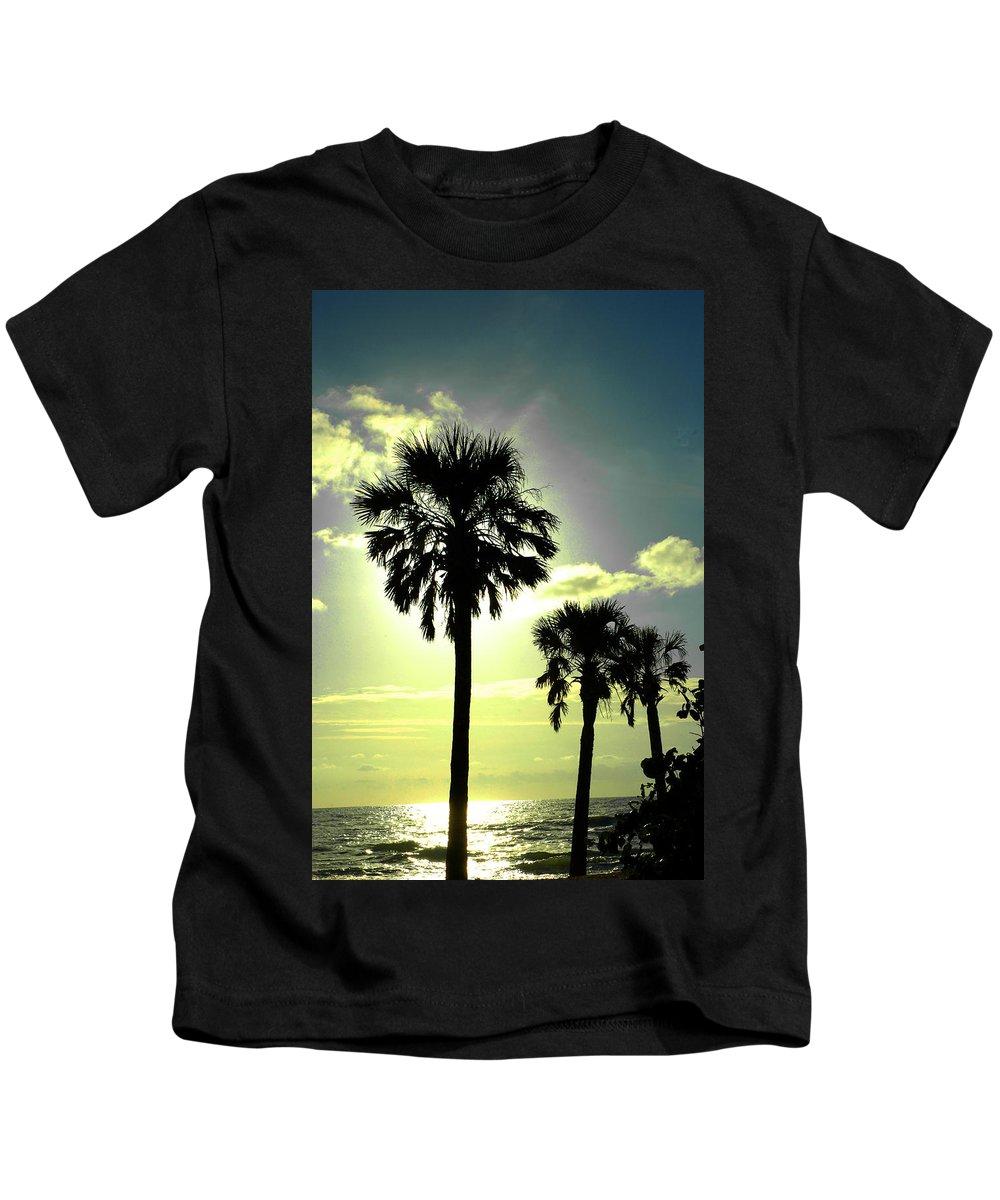 Photography Kids T-Shirt featuring the photograph Honeymoon Island Sunset by Susanne Van Hulst