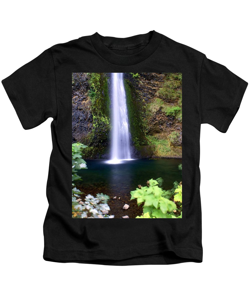 Waterfall Kids T-Shirt featuring the photograph Horsetail Falls by Marty Koch