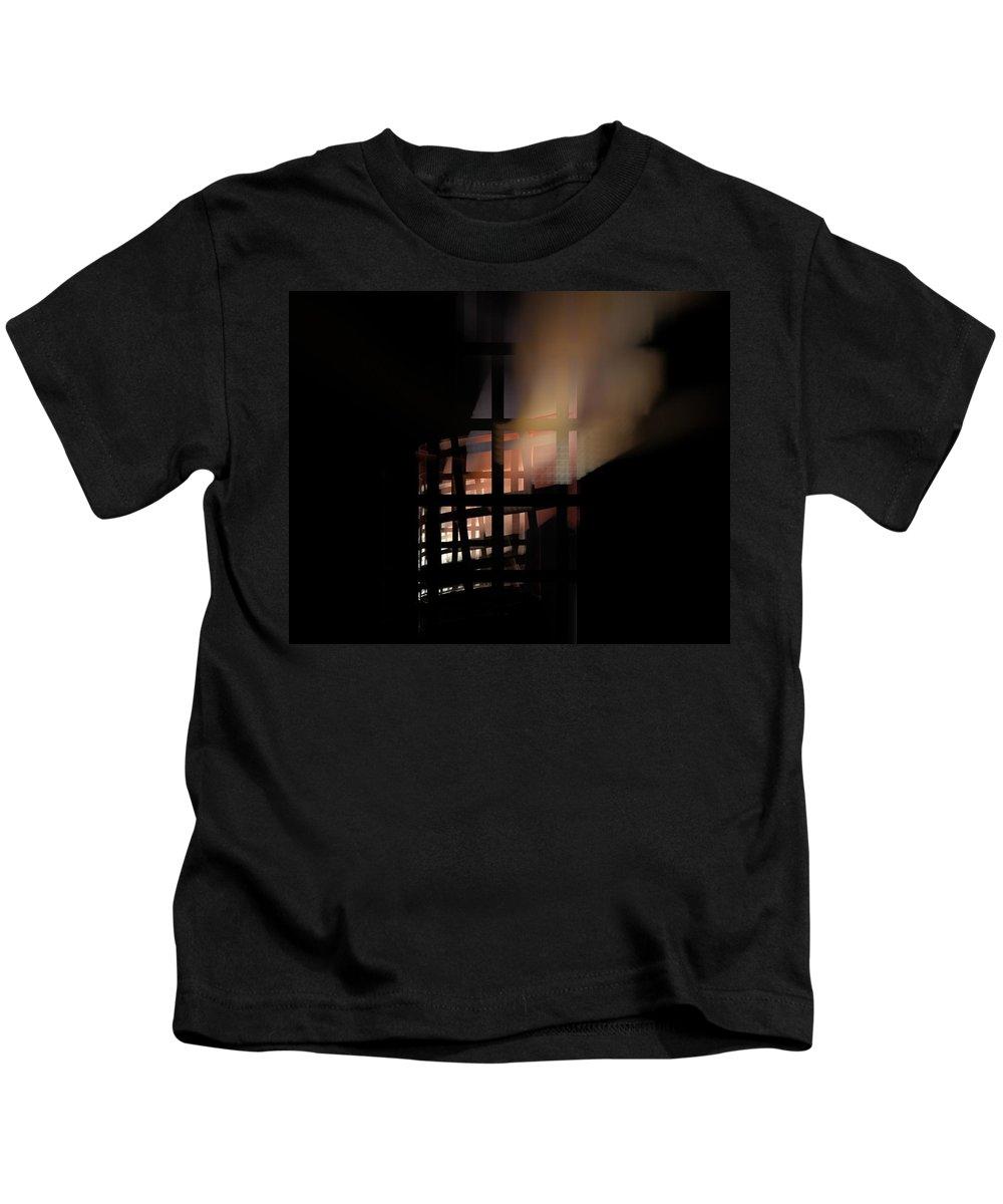 Fine Art Digital Art Kids T-Shirt featuring the digital art Illusion by David Lane