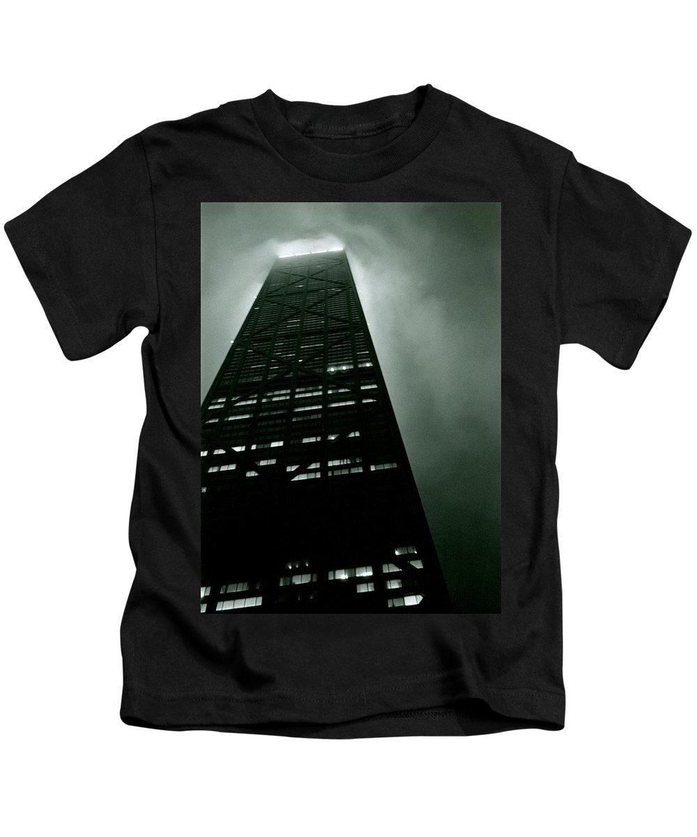 Geometric Kids T-Shirt featuring the photograph John Hancock Building - Chicago Illinois by Michelle Calkins