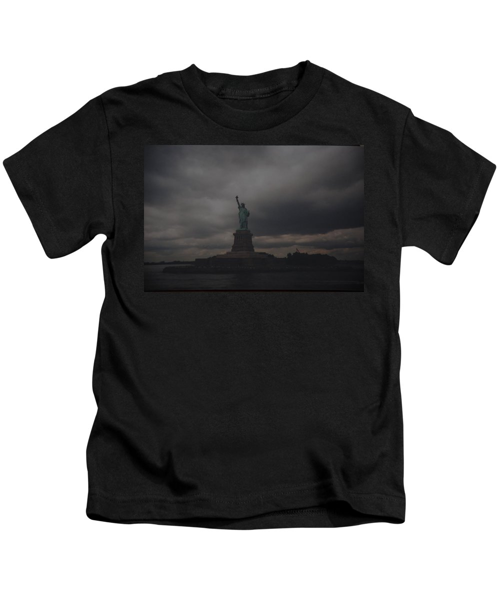 Statue Of Liberty Kids T-Shirt featuring the photograph Lady Liberty by Rob Hans