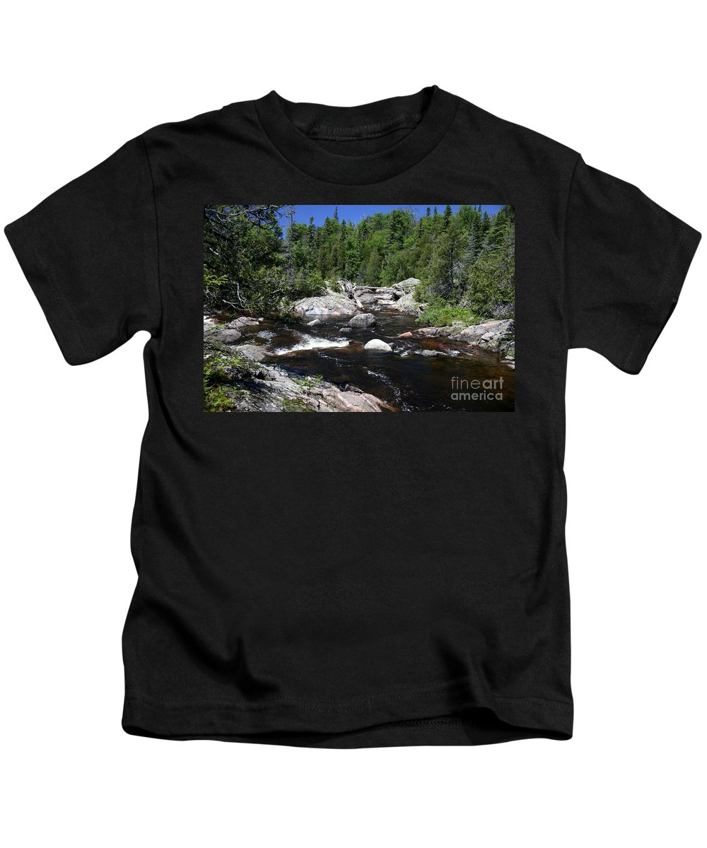 National Park Kids T-Shirt featuring the photograph Lake Superior Provincial Park by Ted Kinsman