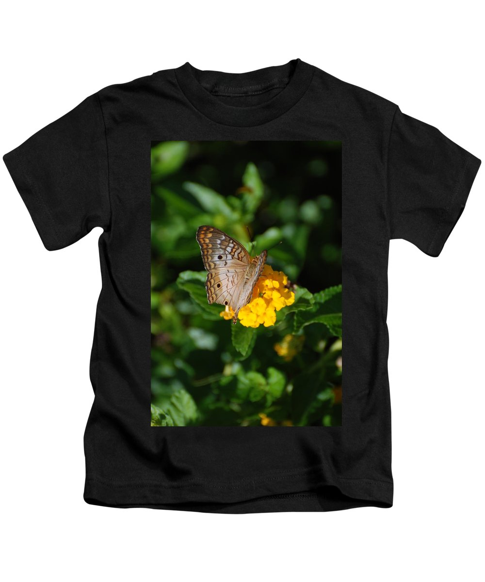 Butterfly Kids T-Shirt featuring the photograph Landed by Rob Hans